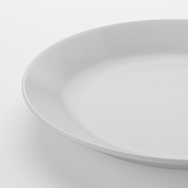 OFTAST Side plate, white, 19 cm