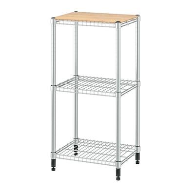 OMAR 1 shelf section, bamboo, 46x36x94 cm
