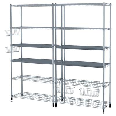 OMAR 2 shelf sections, 197x36x181 cm