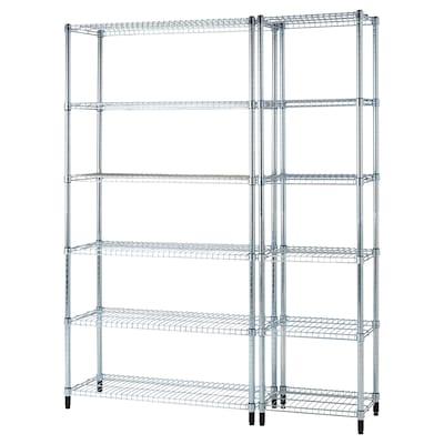 OMAR 2 shelf sections, 140x36x181 cm
