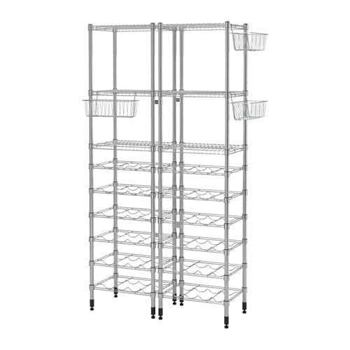 OMAR 2 shelf sections IKEA Easy to assemble – no tools required.  Adjustable shelves make it simple for you to adjust the space to suit your needs.
