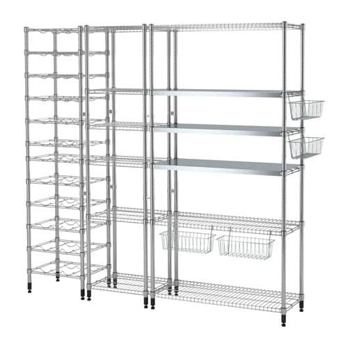 OMAR 3 shelf sections IKEA Easy to assemble – no tools required.  Adjustable shelves make it simple for you to adjust the space to suit your needs.