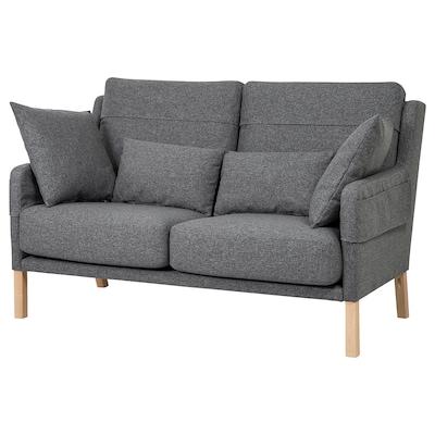 OMTÄNKSAM 2-seat sofa, Gunnared medium grey