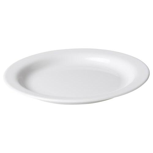 OMTÄNKSAM plate with anti-slip white 20 cm