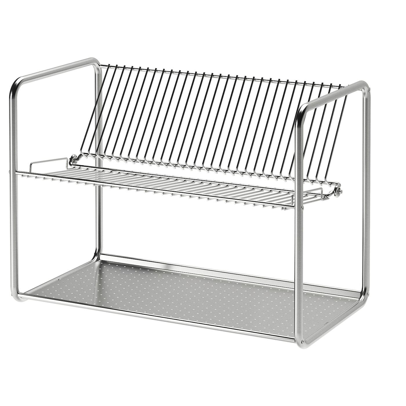 IKEA ORDNING STAINLESS STEEL CUTLERY UTENSILS STAND HOLDER DRAINER
