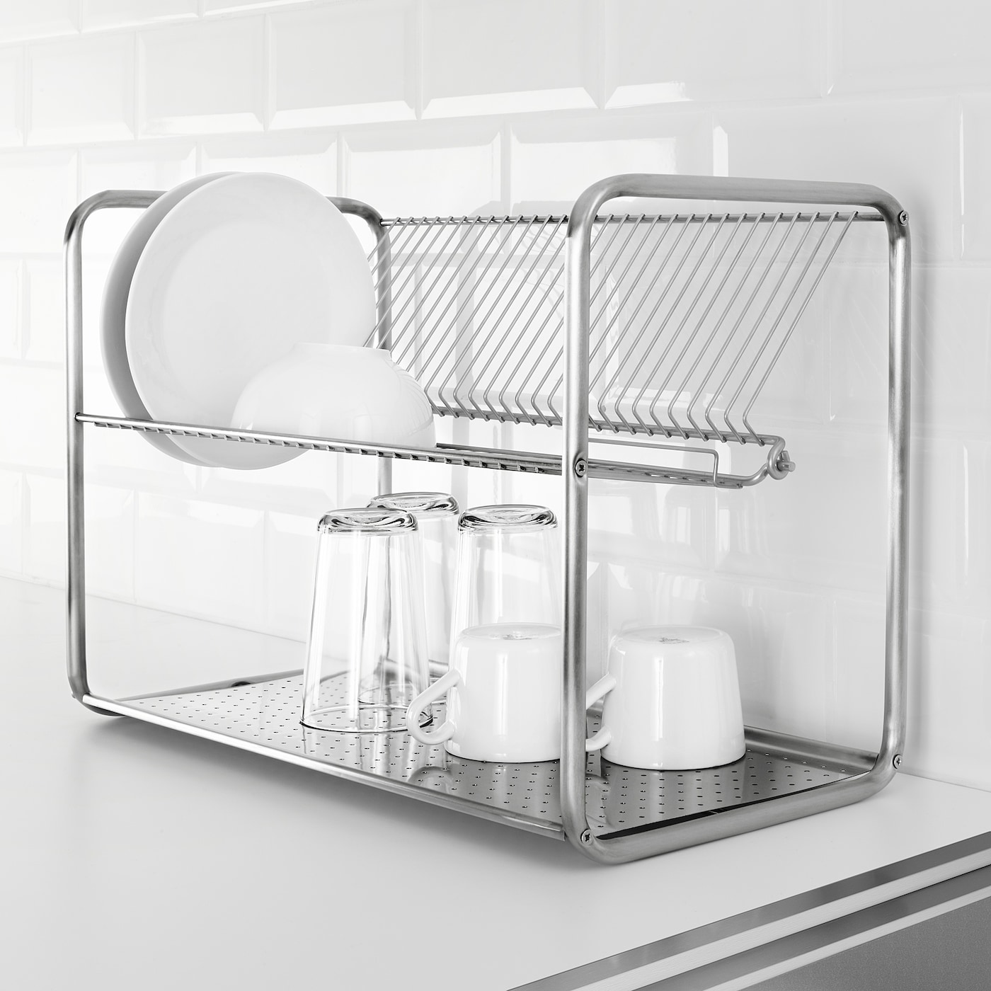 Ordning Dish Drainer Stainless Steel 50x27x36 Cm Ikea