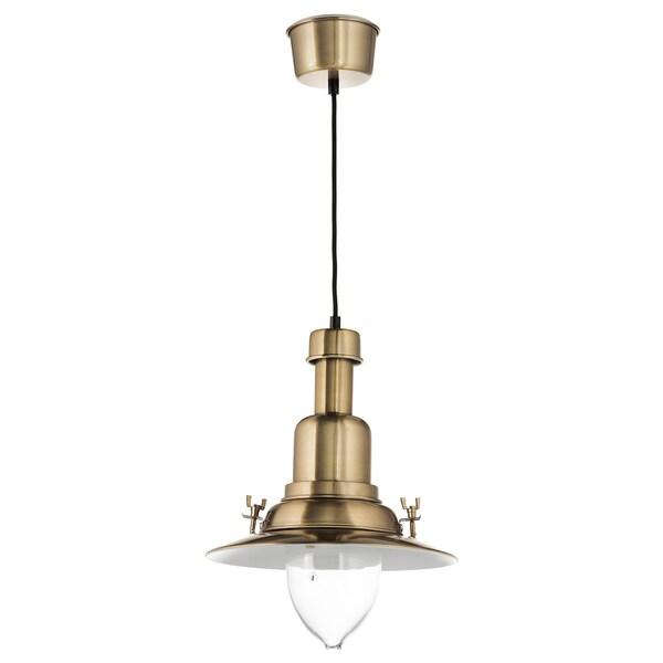 OTTAVA pendant lamp brass-colour 60 W 30 cm 1.2 m