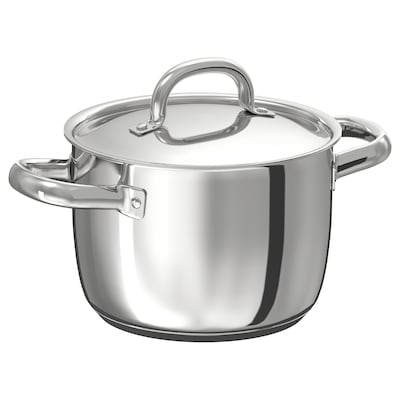 OUMBÄRLIG Pot with lid, 3 l