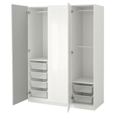 PAX Wardrobe, white/Fardal Vikedal, 150x60x201 cm