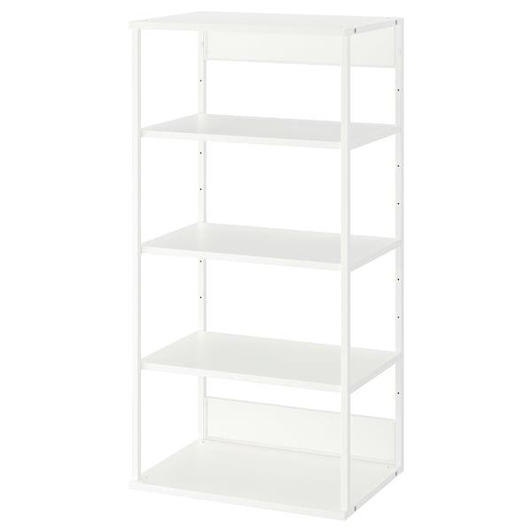 PLATSA Open shelving unit, white, 60x40x120 cm