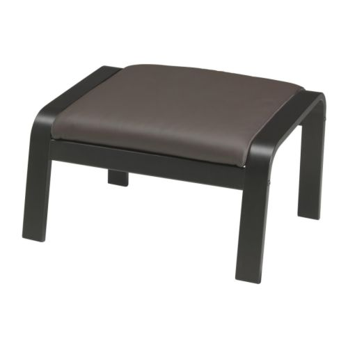 po ng footstool glose dark brown ikea. Black Bedroom Furniture Sets. Home Design Ideas