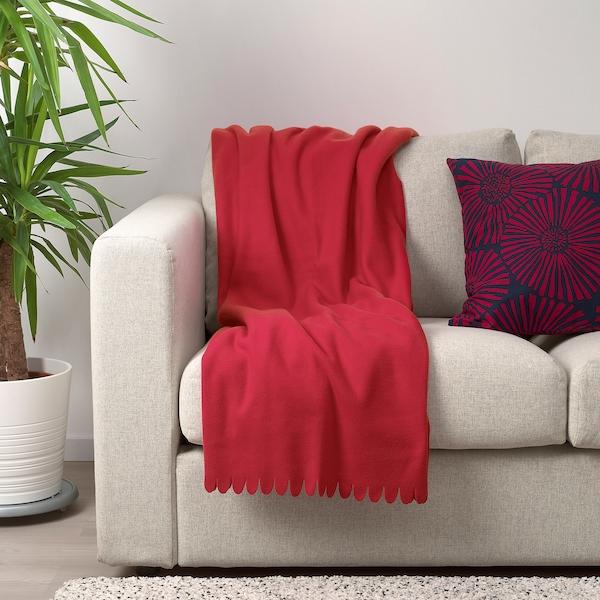 POLARVIDE Throw, red, 130x170 cm
