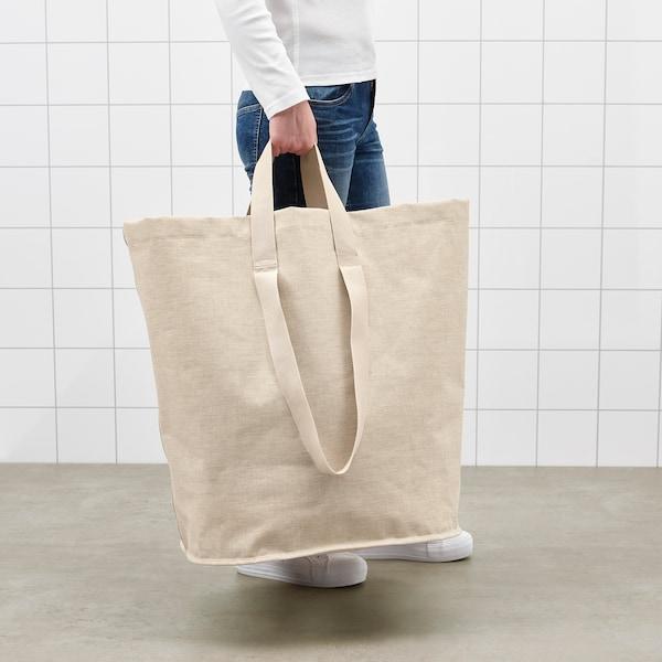 PURRPINGLA Laundry bag, beige, 100 l