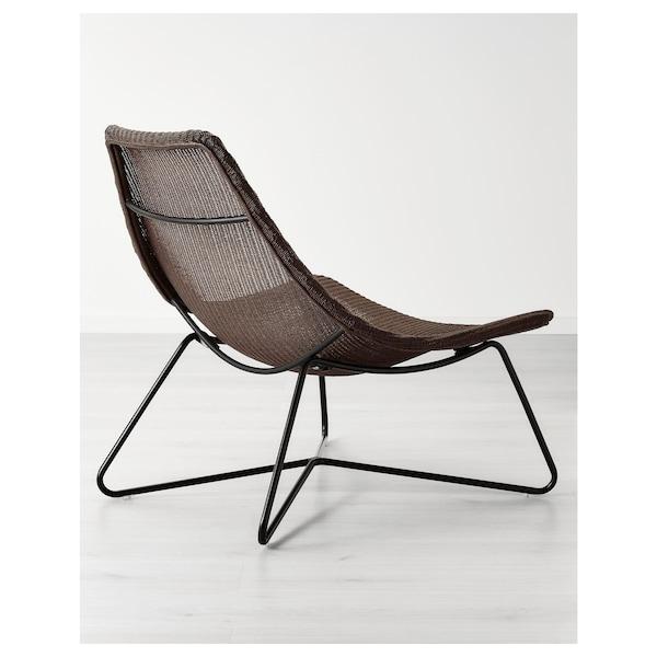 RÅDVIKEN armchair dark brown/black 79 cm 73 cm 82 cm 79 cm 45 cm 35 cm