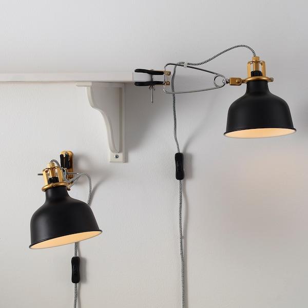 RANARP Wall/clamp spotlight, black