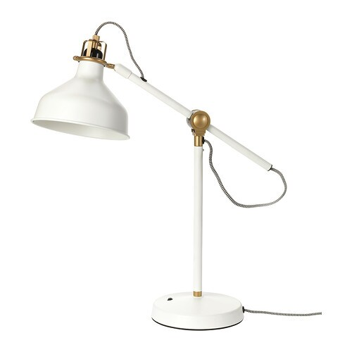 RANARP Work lamp IKEA You can easily direct the light where you want it because the lamp arm and head are adjustable.