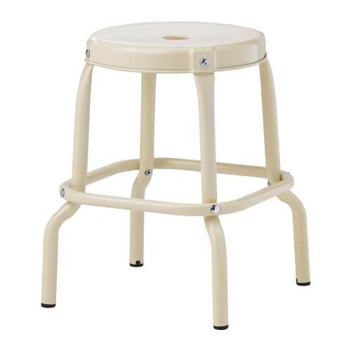 RÅSKOG Stool IKEA Easy to move thanks to the hole in the seat.  Plastic feet protect the furniture when in contact with a moist surface.