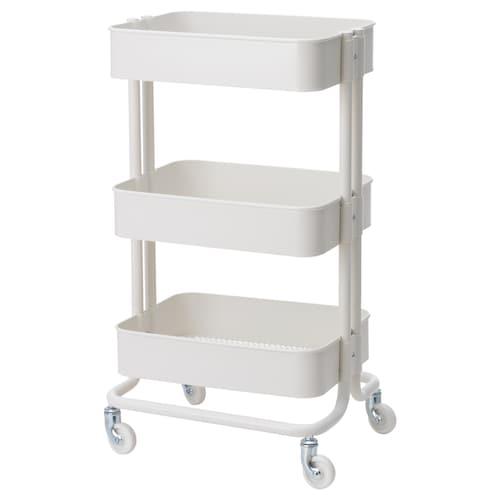 RÅSKOG trolley white 35 cm 45 cm 78 cm