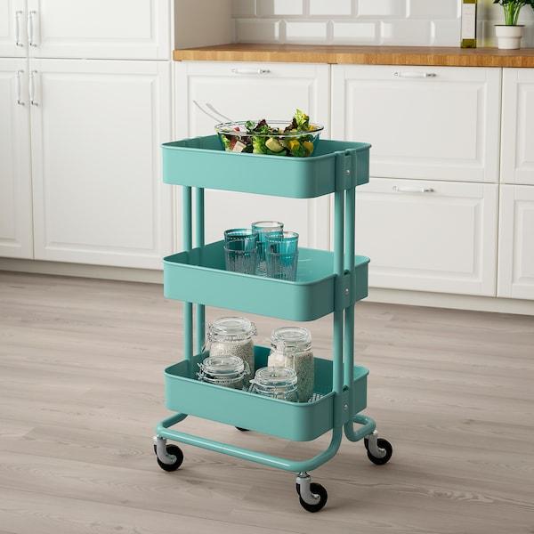 RÅSKOG trolley turquoise 6 kg 35 cm 45 cm 78 cm 18 kg