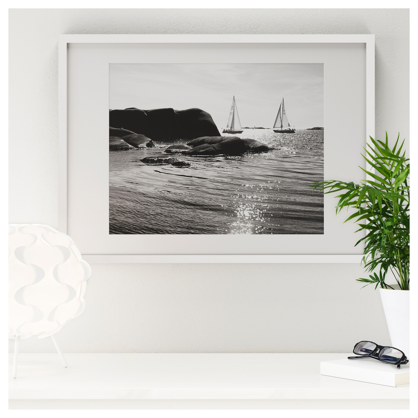 Ikea Ribba Picture Photo Frame White Home Bedroom Living Room 50x70cm