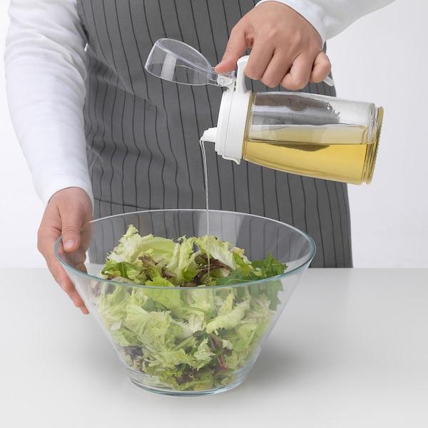 RISOLL Oil/vinegar bottle, plastic/glass, 55 cl