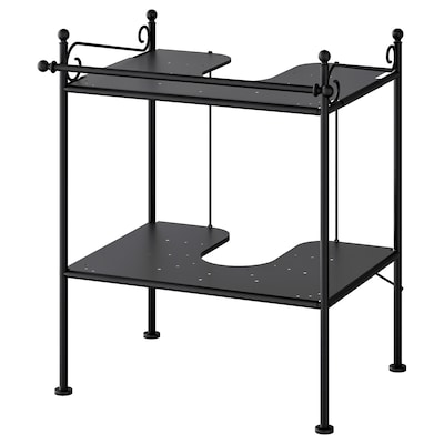 RÖNNSKÄR Wash-basin shelf, black
