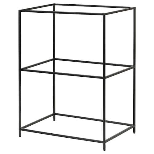 SAMMANHANG tray stand black 28 cm 20 cm 39 cm