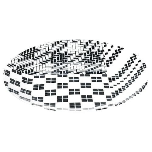 SAMMANKOPPLA plate white/black 25 cm