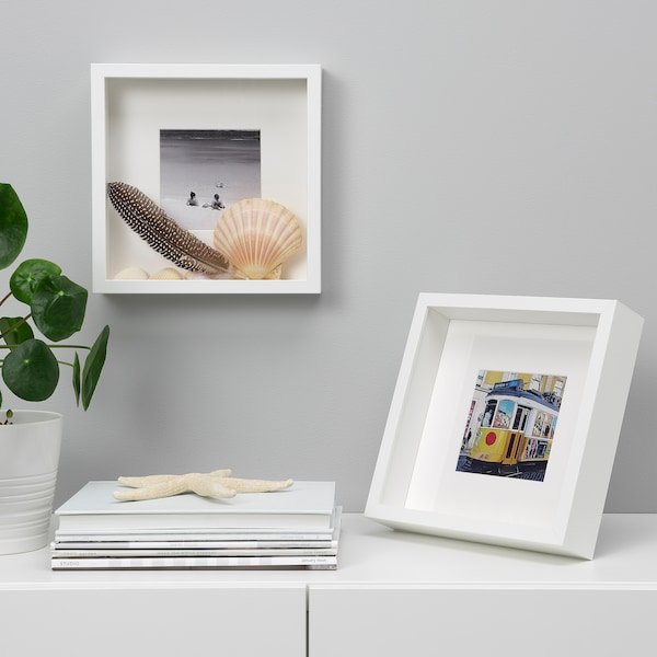 SANNAHED Frame, white, 25x25 cm