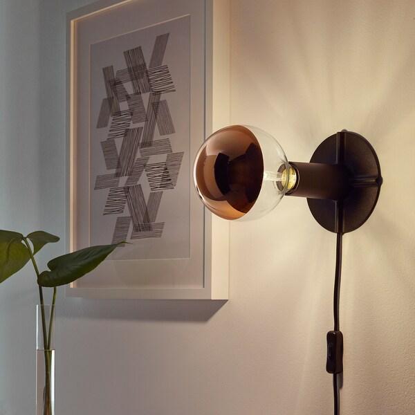SILLBO LED bulb E27 370 lumen globe/mirrored top rosé gold coloured 125 mm