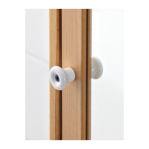 SILVERÅN High cabinet with mirror door - light brown - IKEA