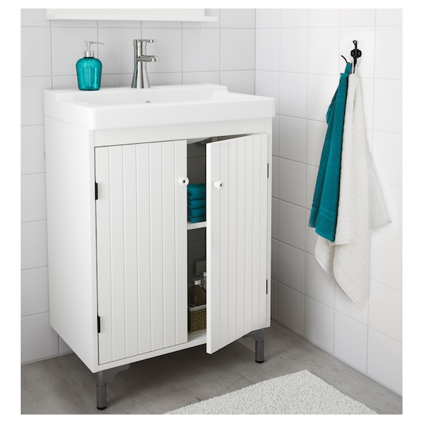 Wash Basin Cabinet With 2 Doors White