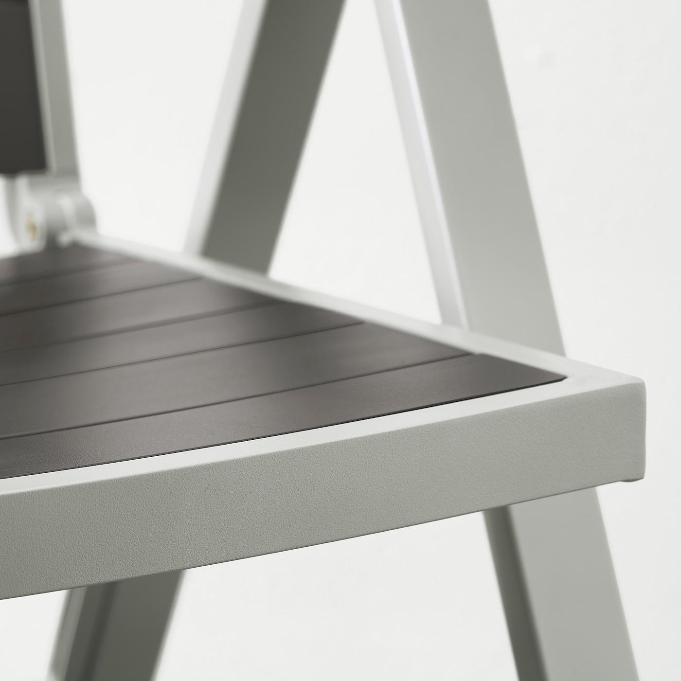 Sjalland Reclining Chair Outdoor Light Grey Foldable Dark Grey Ikea