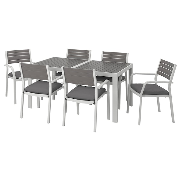 Table 6 Chairs W Armrests Outdoor