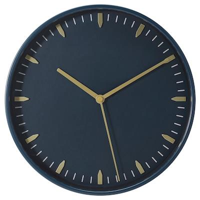 SKÄRIG Wall clock, blue, 26 cm