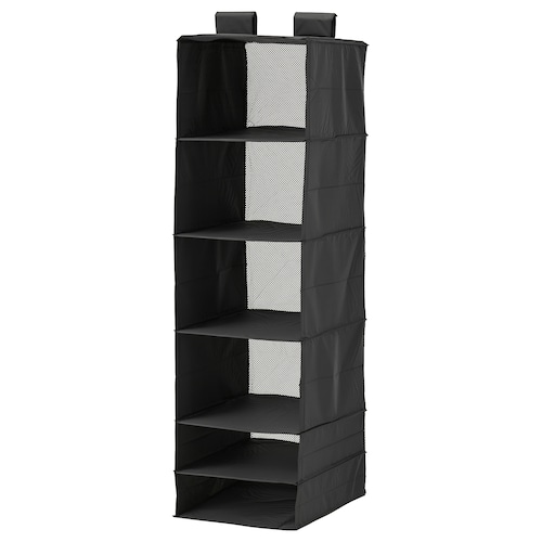 SKUBB storage with 6 compartments black 35 cm 45 cm 125 cm