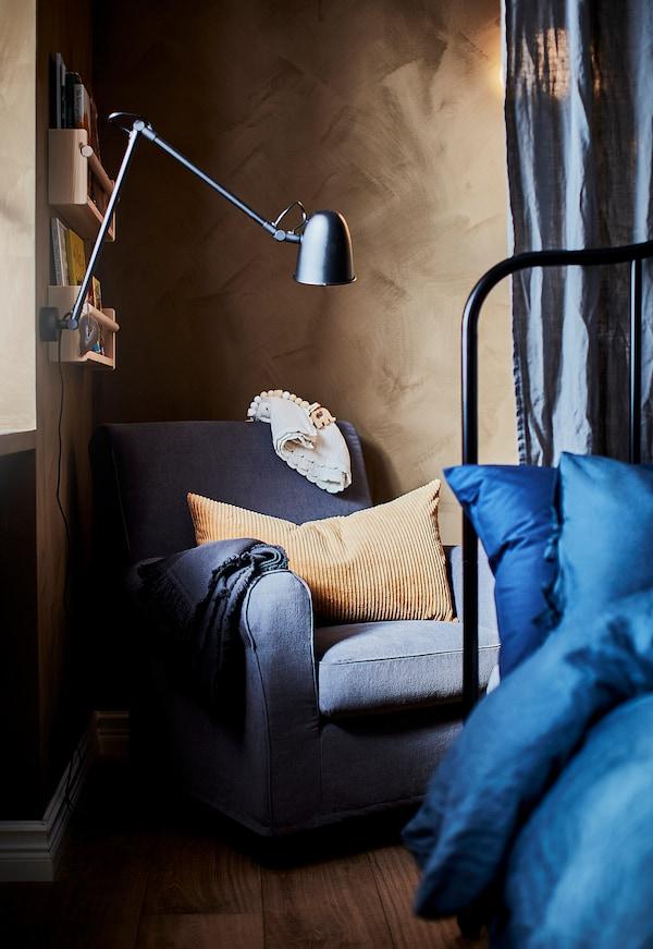 SKURUP Work/wall lamp, black