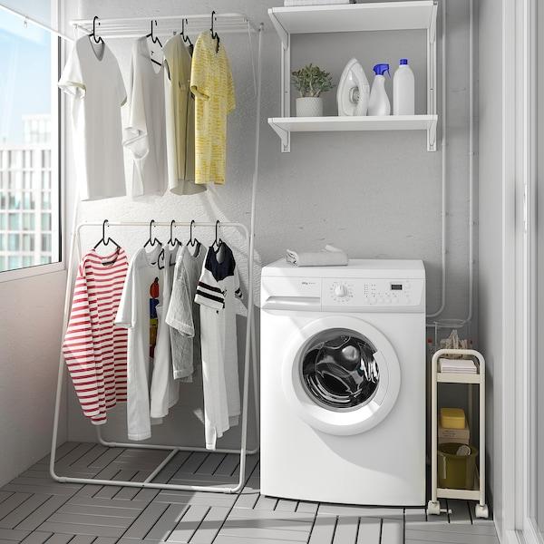 SLIBB Drying rack, 2 levels, grey, 78x46x185 cm