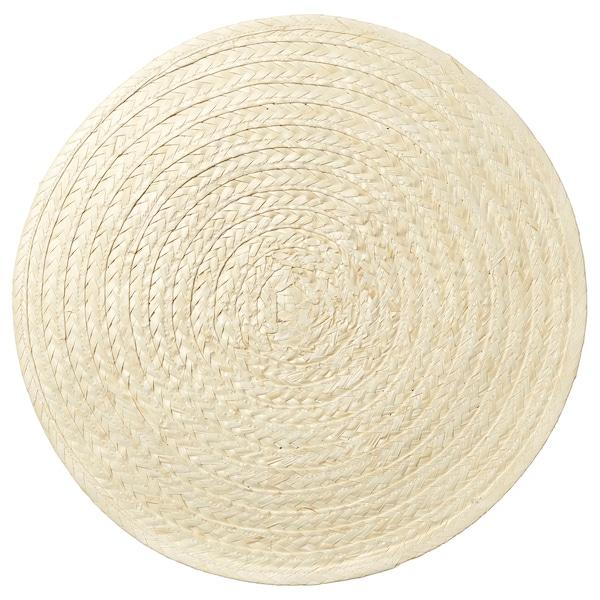 SLUTEN Place mat, palm leaf/natural, 37 cm