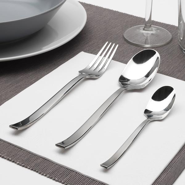 SMAKGLAD 18-piece cutlery set, stainless steel