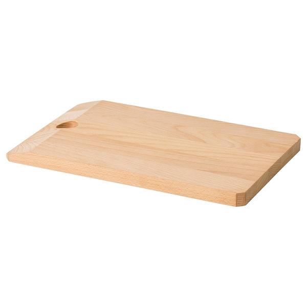 SMASKIGA chopping board beech 28 cm 18 cm 15 mm