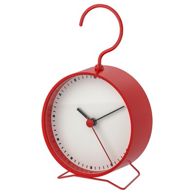 SNIFFA Clock, red, 9x15 cm