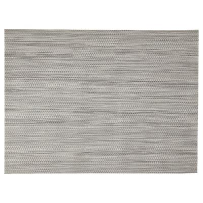 SNOBBIG Place mat, light grey, 45x33 cm