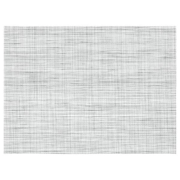 SNOBBIG Place mat, white/black, 45x33 cm