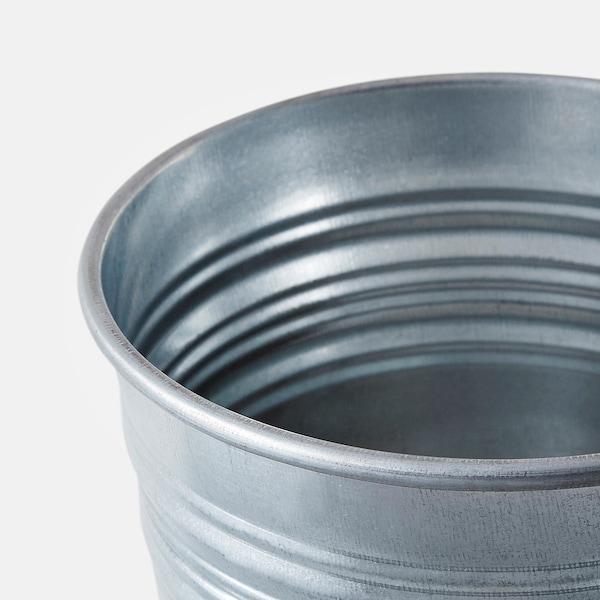 SOCKER Plant pot, in/outdoor/galvanised, 10.5 cm