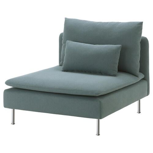 SÖDERHAMN 1-seat section Finnsta turquoise 93 cm 99 cm 83 cm 93 cm 48 cm 40 cm