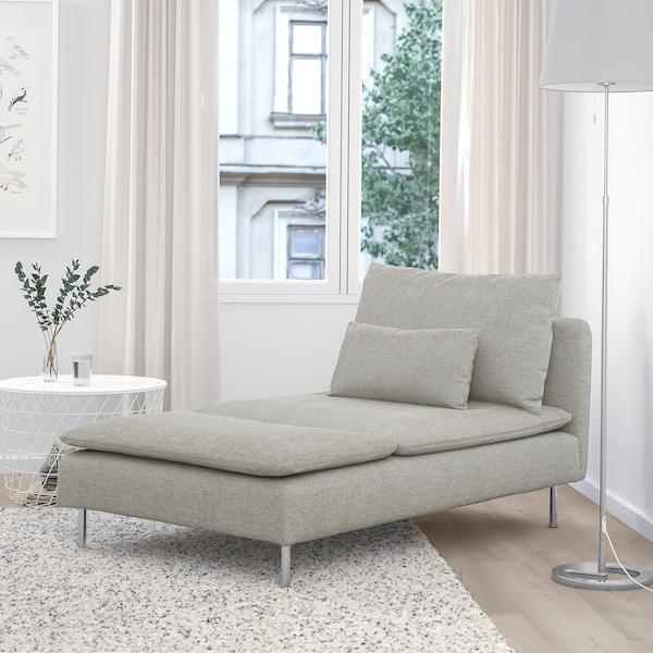 SÖDERHAMN Chaise longue - Viarp beige/brown - IKEA