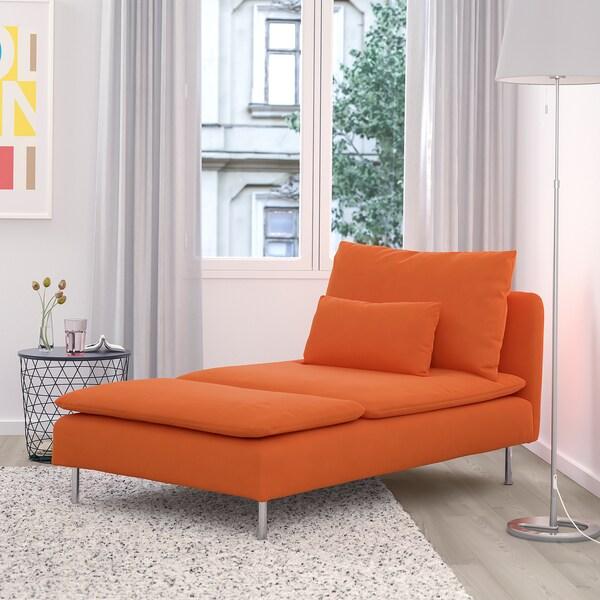 SÖDERHAMN chaise longue Samsta orange 93 cm 151 cm 83 cm 93 cm 100 cm 40 cm