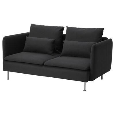 SÖDERHAMN Compact 3-seat sofa, Samsta dark grey