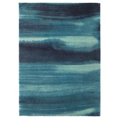 SÖNDERÖD Rug, high pile, blue, 170x240 cm